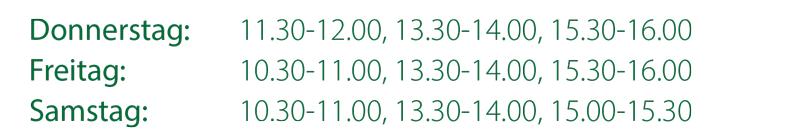DAC 2015 Scanzeiten