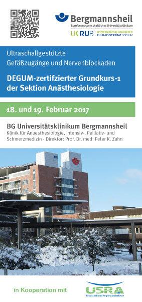 Bergmannsheil Bochum Ultraschall Grundkurs Nervenblockaden