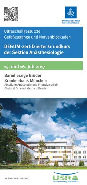 Ultraschallgesteuerte Nervenblockaden Kurs in München Barmherzige Brüder