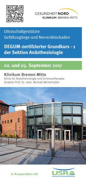 Ultraschallgestützte Nervenblockaden Kurs am Klinikum Bremen Mitte
