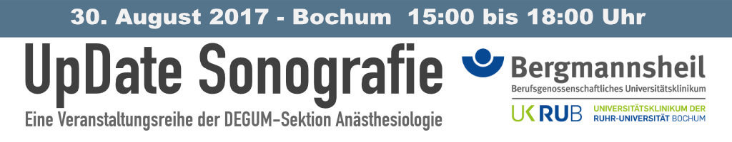 UpDate Sonografie – Bochum 30. August 2017